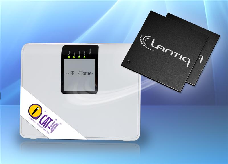 Lantiq Chips Power World's First CAT-iq 2.0 Certified Home Gateway to Bring Wideband Voice and Next Generation DECT Telephony to Mass Market