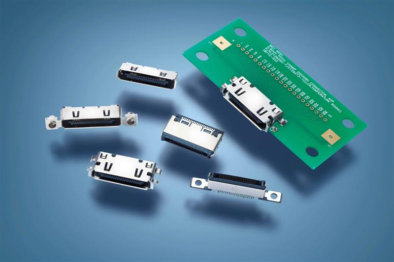 TE Connectivity Introduces High Performance 0.6 mm Centerline High-Speed CHAMP Docking Series Connector