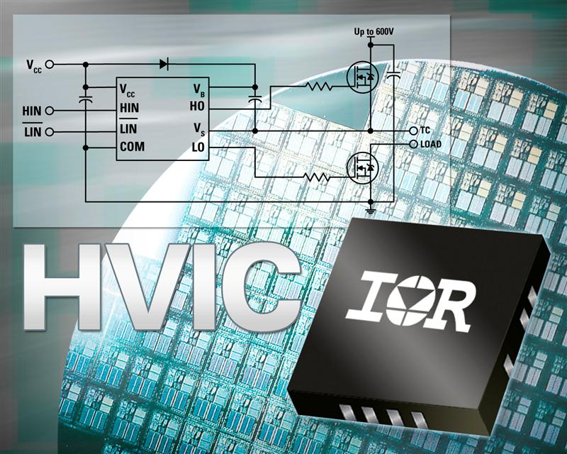 IR's Rugged, Reliable High-Voltage Gate Drive ICs in a PQFN4x4 Package Offer up to 85 Percent Smaller Footprint