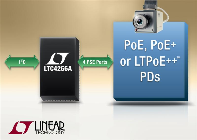 Quad & Single LTPoE++ PSE Controllers Deliver Up to 90W