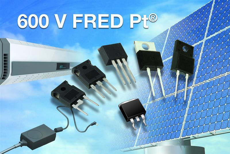 Vishay Releases 34 New 600 V FRED Pt® Hyperfast and Ultrafast Rectifiers in Six Power Packages With Four Different Forward Voltage Drop vs. Recovery Time Trade-Off Options