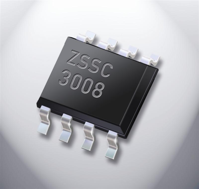 ZMDI ZSSC3008 Sensor Signal Conditioner IC for Automotive, Industrial Automation and White Goods Applications
