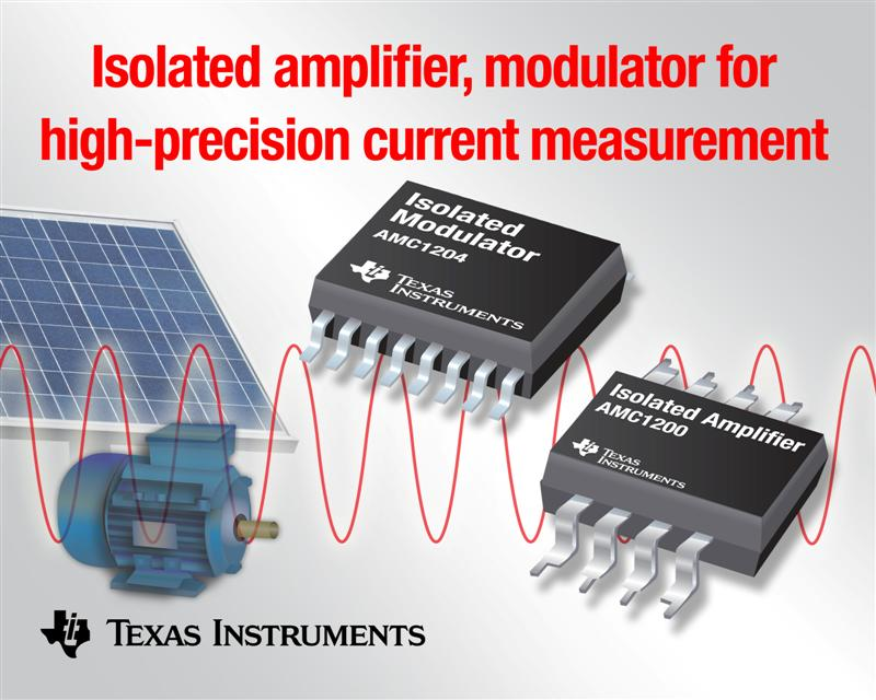 TI isolated amplifier, modulator enable high-precision current measurement in motor control, green energy applications