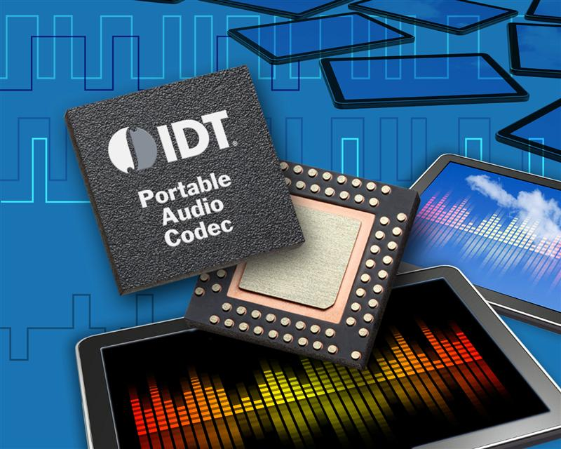 IDT Introduces World's First Portable Audio Subsystem with Integrated Programmable Clock Generator for Tablet Computing