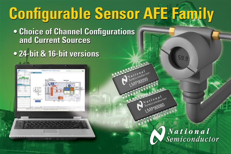 National Semiconductor Expands Sensor AFE Family