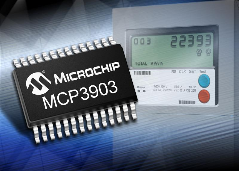 Microchip's first six-channel analogue front-end for three-phase energy metering offers industry-leading accuracy