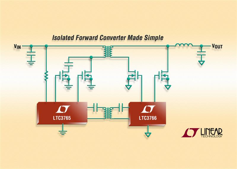 Linear's Isolated Forward Converter Chipset Simplifies Design - Enhances System Reliability