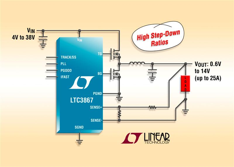 Synchronous Step-Down DC/DC Controller Using Nonlinear Control & Differential Output Sensing for Tight Output Voltage Regulation