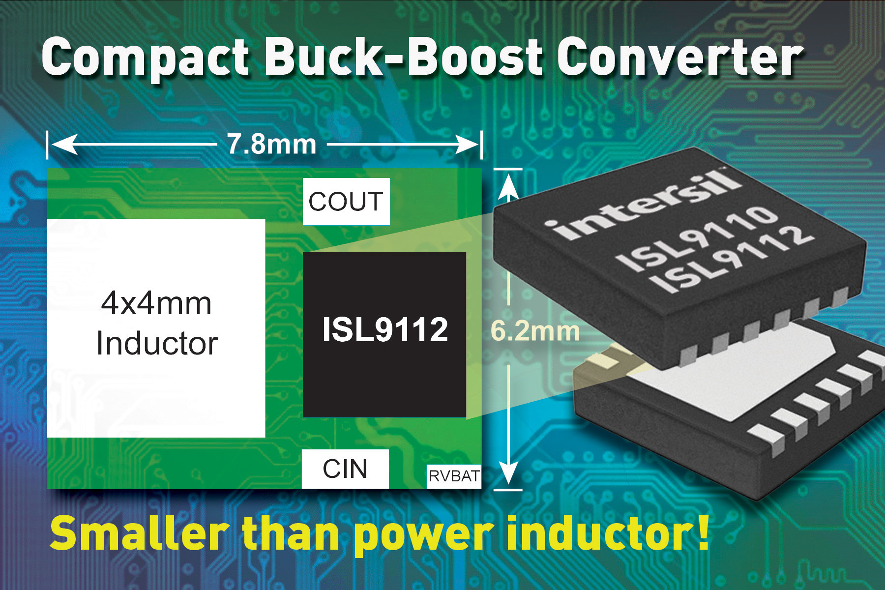 Intersil Introduces Industry's Highest Performance Integrated Buck-Boost Regulator