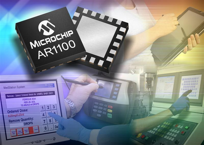 Microchip announces analogue resistive USB touch-screen controller