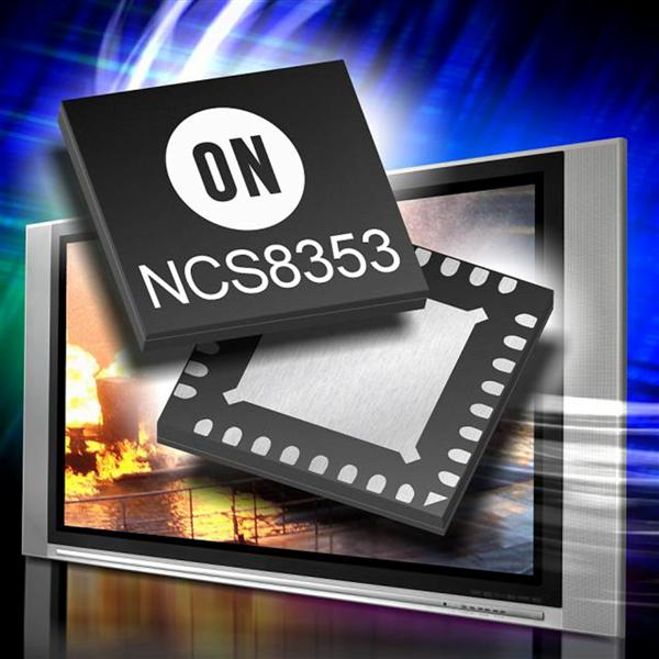 ON Semiconductor unveils Class D audio amplifier for flat panel TVs with digital power limit and selectable gain