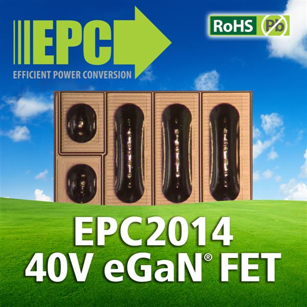 Efficient Power Conversion Corporation (EPC) Expands eGaN® FET Family with Second Generation 40 Volt, 16 milliohm Power Transistor