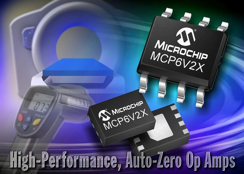 Microchip Expands Ultra-High-Performance, Auto-Zero Operational Amplifier Portfolio With New Low-Noise Devices