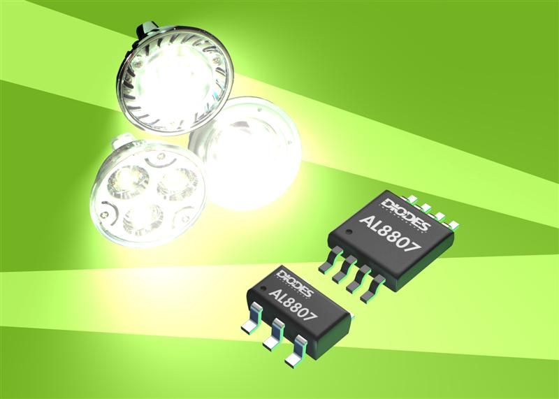 Diodes' LED driver reduces EMI in low cost lamps