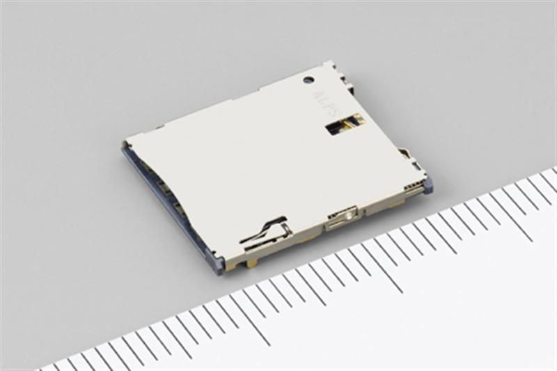 ALPS Develops SCGD Series Push-Push Type microSIM Card Connector