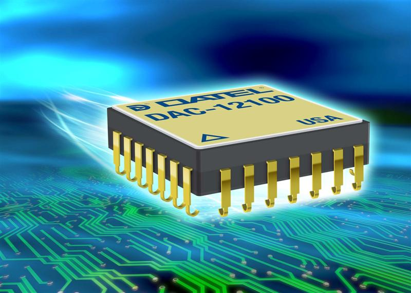 Low cost, ultra-high speed 12-bit digital to analogue converter suits high reliability military and aerospace applications