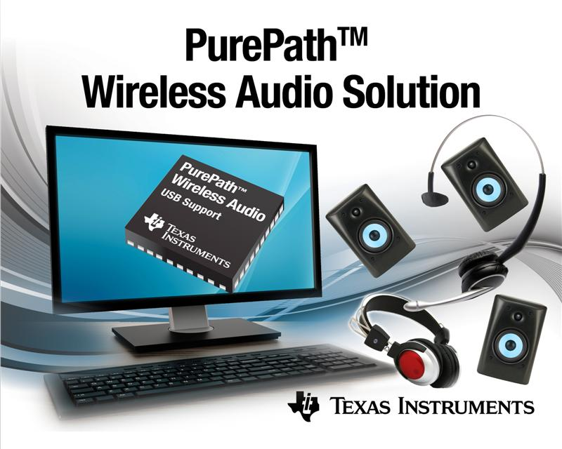 Cut the cords loose, turn up the volume: TI introduces PurePath™ Wireless audio products with USB support