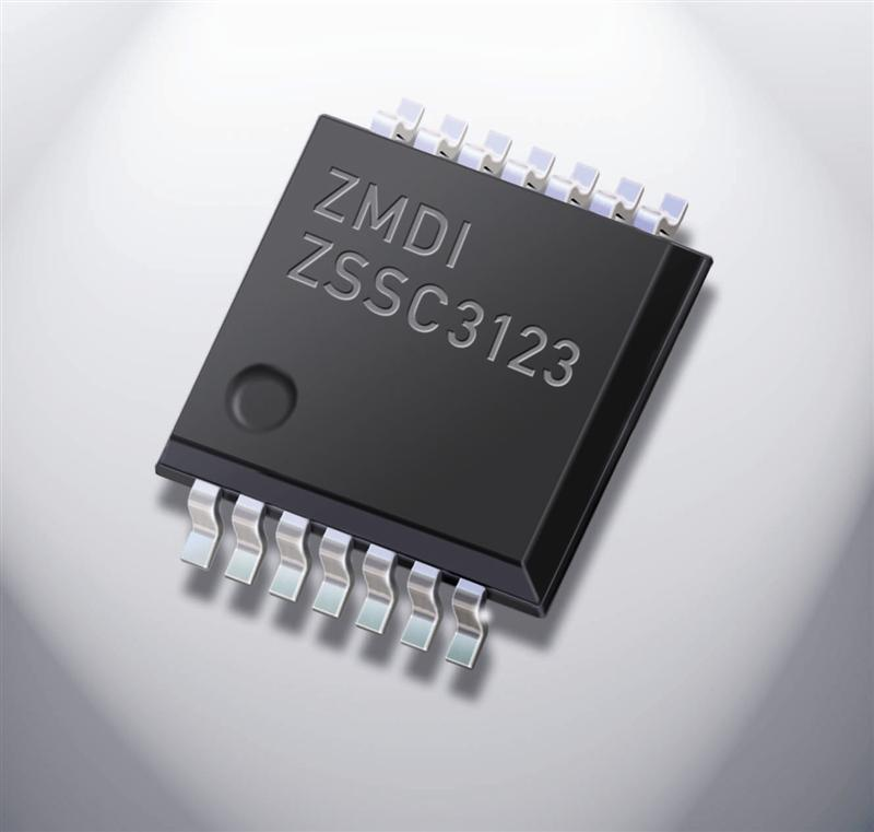 ZMDI 14-Bit Capacitive Sensor Conditioning IC Raises Bar on Accuracy, Linearity, and Temperature for Pressure Sensors