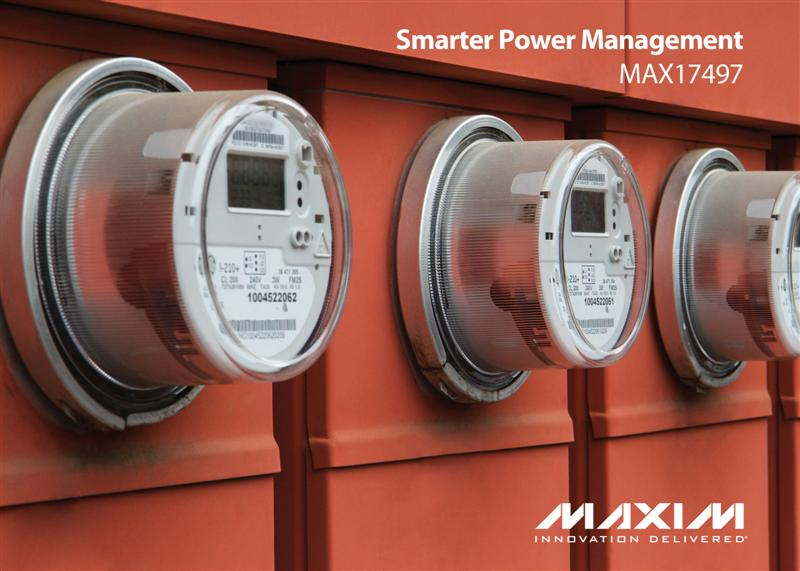 Industry's First Highly Integrated, Smart Meter Power Regulator Eases Design and Lowers Cost