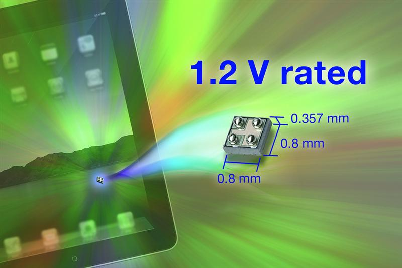 Vishay Siliconix MICRO FOOT® N-Channel and P-Channel Power MOSFETs are Industry's First to Feature On-Resistance Ratings Down to 1.2 V in Industry's Smallest Chipscale Package