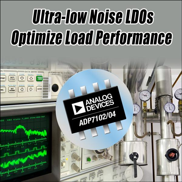 Analog Devices' Ultra-Low-Noise LDOs Optimize Load Performance In Communications, Medical And Industrial Systems
