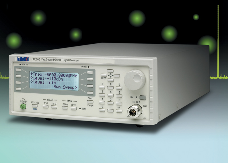 RF signal generator sweeps to 6 GHz