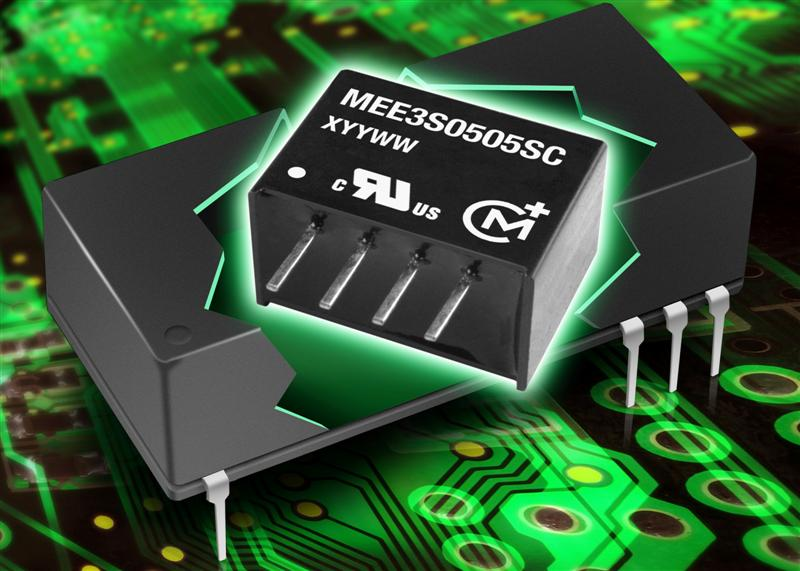 MEE3 series of DC/DC converters achieves 50 % power output increase within the same package