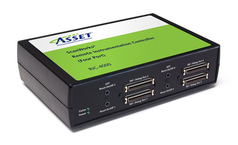 ASSET's new Ethernet controller for ScanWorks tests four circuit boards at once