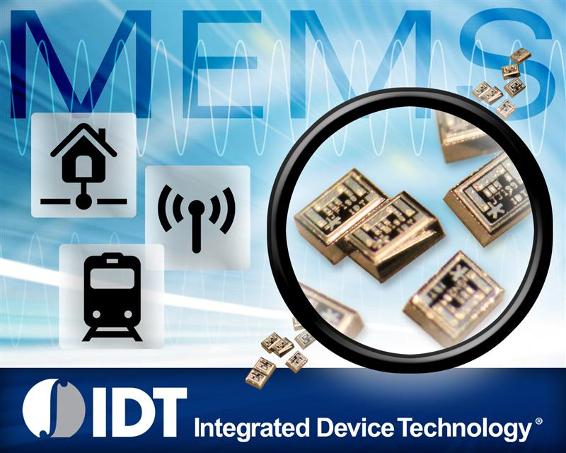IDT Demonstrates World's First Commercial Piezoelectric MEMS Oscillators