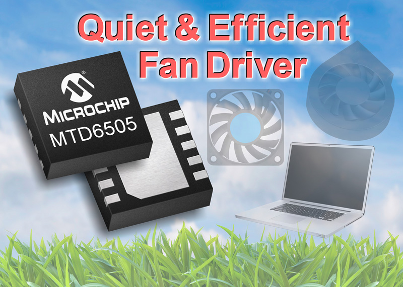 Microchip's 3-Phase BLDC Fan Motor Driver is Industry's First With Resistor-Programmable, Sensorless Sinusoidal Architecture