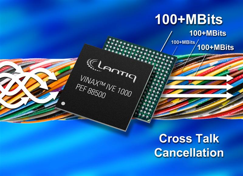 Lantiq Announces Industry First VDSL2 Vectoring Chip Enabling Full System-Level Crosstalk Noise Cancellation