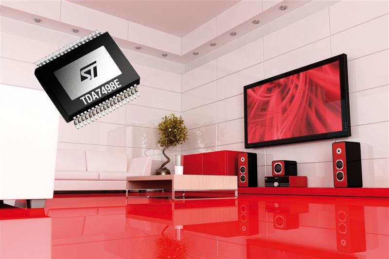 New Amplifiers from STMicroelectronics Bring Superior Sound and Sleek Style to Advanced Audio Systems