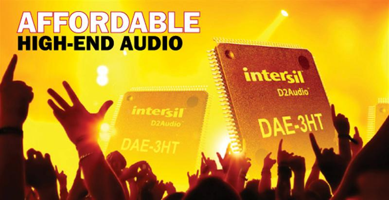Intersil's New Processor Helps Audio Manufacturers Satisfy #1 Consumer Demand