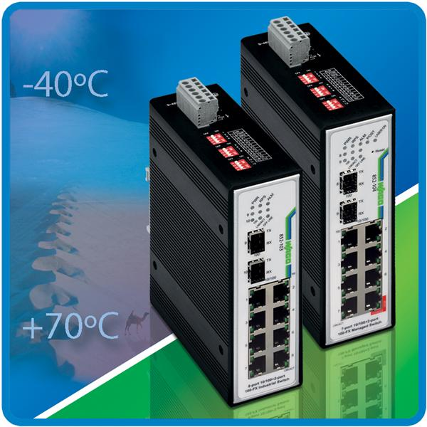 WAGO Wide Temperature Ethernet Switches