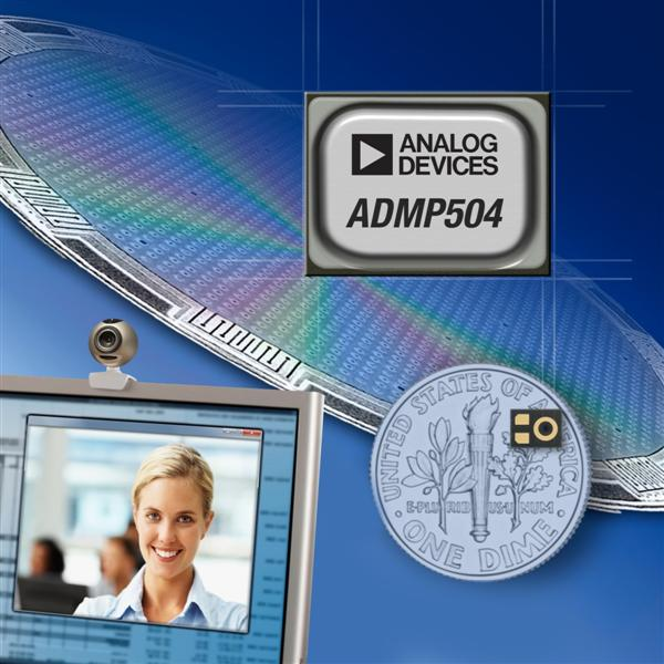 Analog Devices Sets High-Performance Benchmark with the Industry's Lowest-Noise MEMS Microphone