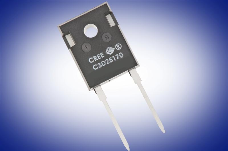 Cree Releases Packaged 1700V SiC Schottky Diodes to Improve Efficiency and Enable Cost Savings to Solar, Motor Drive and Traction Applications