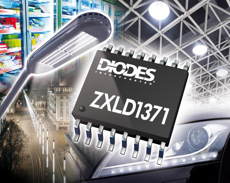 LED Driver Controller from Diodes Handles More Demanding Lighting Applications