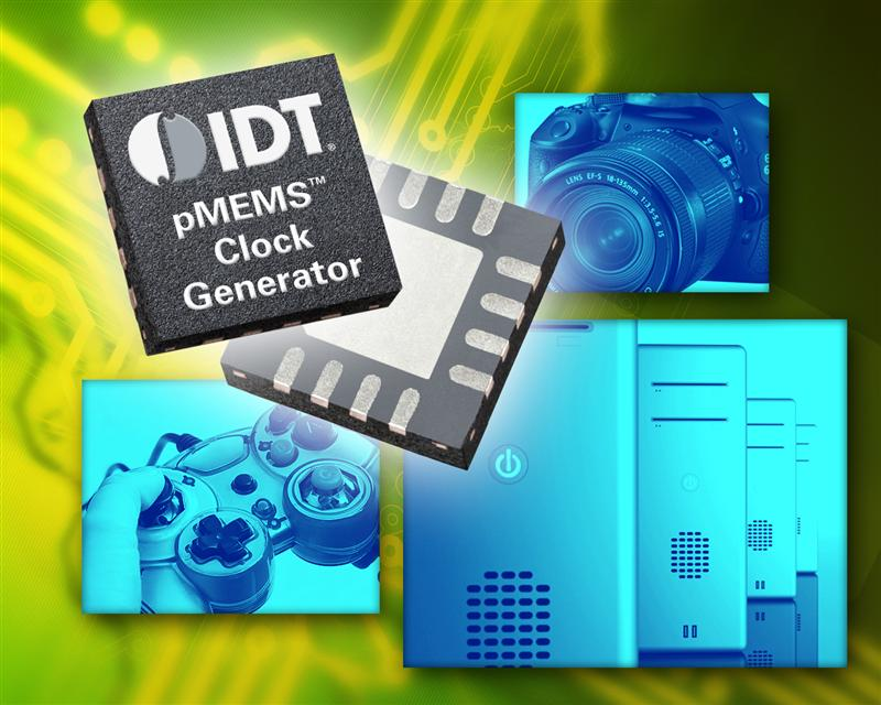 IDT Introduces World's First Single-ended Multi-output PLL Clock Generators Using pMEMS Technology