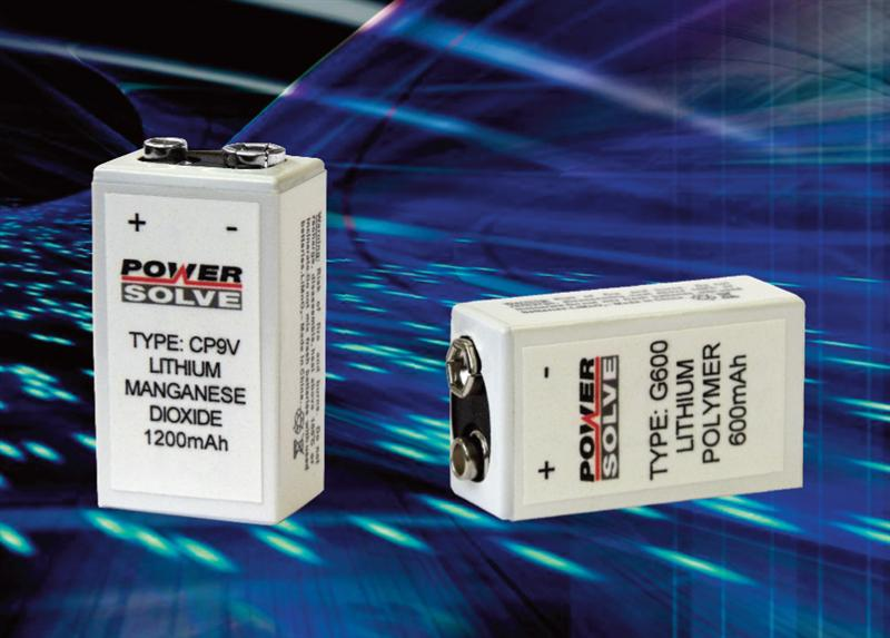 Powersolve Announces PP3 Equivalent  Primary and Rechargeable Lithium Batteries