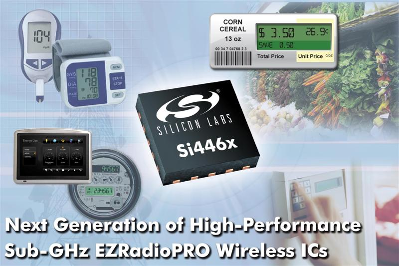 Silicon Labs Introduces Highest Performance, Lowest Power Sub-GHz Wireless ICs