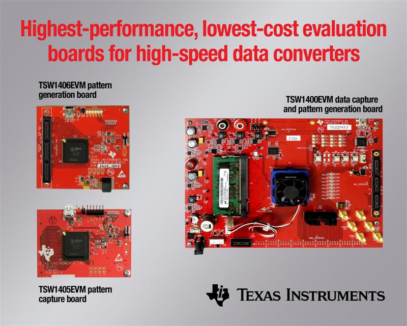 TI establishes new benchmark for evaluating high-speed data converters with industry's highest-performance, lowest-cost EVBs