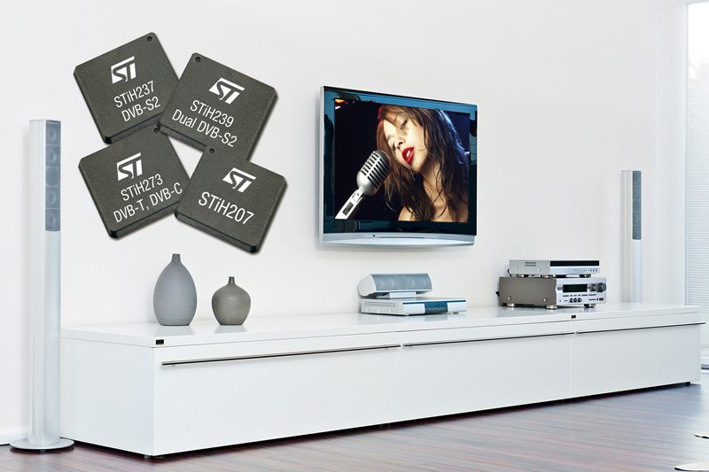 Latest Set-Top Box IC Family from STMicroelectronics Provides Platform for Innovative Next-Generation Services Targeting Price-Sensitive Markets