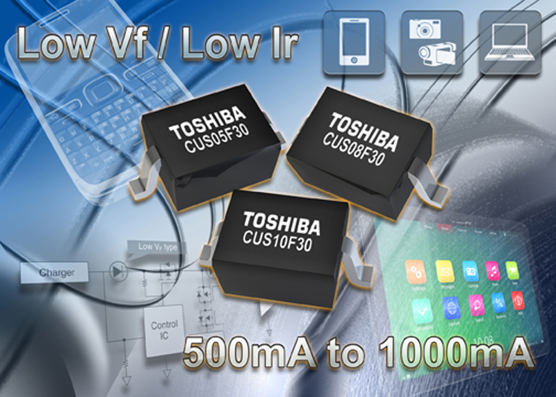 Toshiba expands Schottky diode offering for high-speed switching in battery-powered products