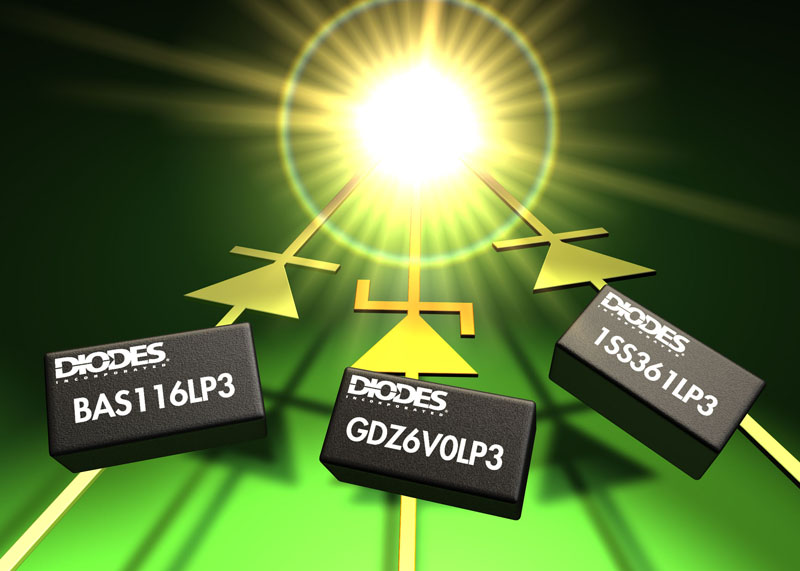 Diodes Incorporated Introduces Ultra-Miniature Diodes for use in Lightweight Portable Products