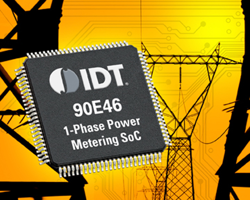 IDT Introduces World's Most Advanced Single-phase Power Metering SoC for Smart Grid Applications
