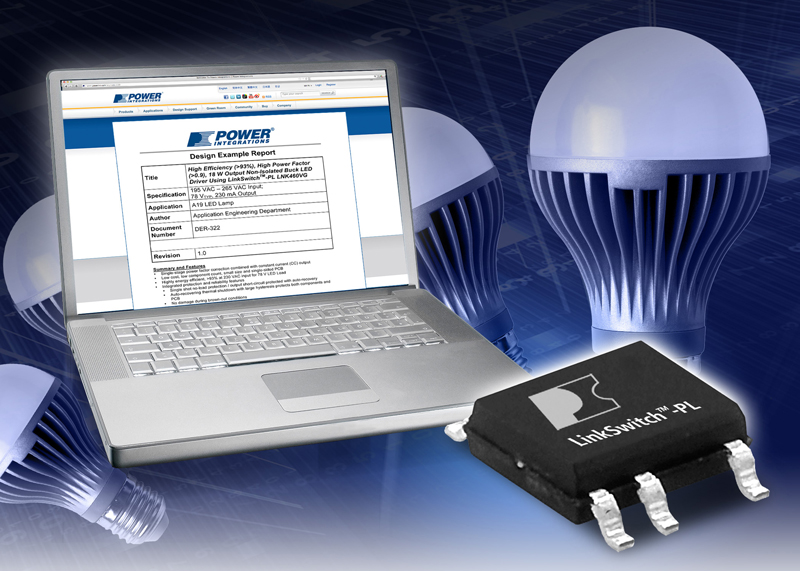 Power Integrations Announces Industry's First LED-Driver Design for Replacement of 100 W A19 Incandescent Bulbs