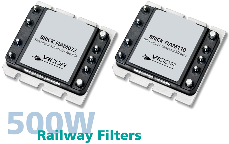 Vicor Introduces New FIAM Filter Modules for DC-DC Railway Applications