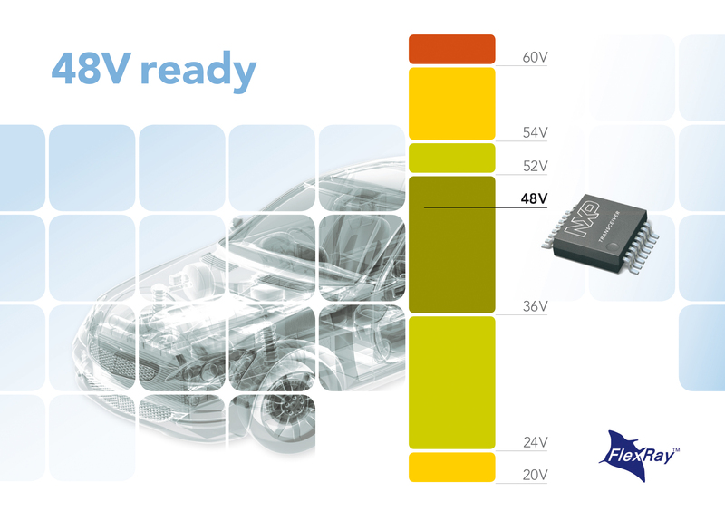 NXP Supports the Automotive Industry Move to 48V On-Board Supply with Industry-First 60V FlexRay Transceivers