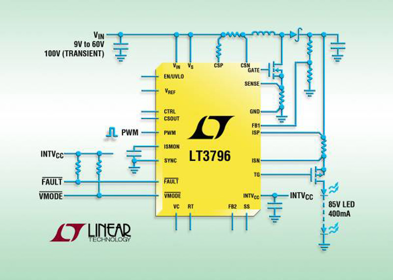 100V, Constant-Current & Constant-Voltage Controller with Input & Output Current Sense