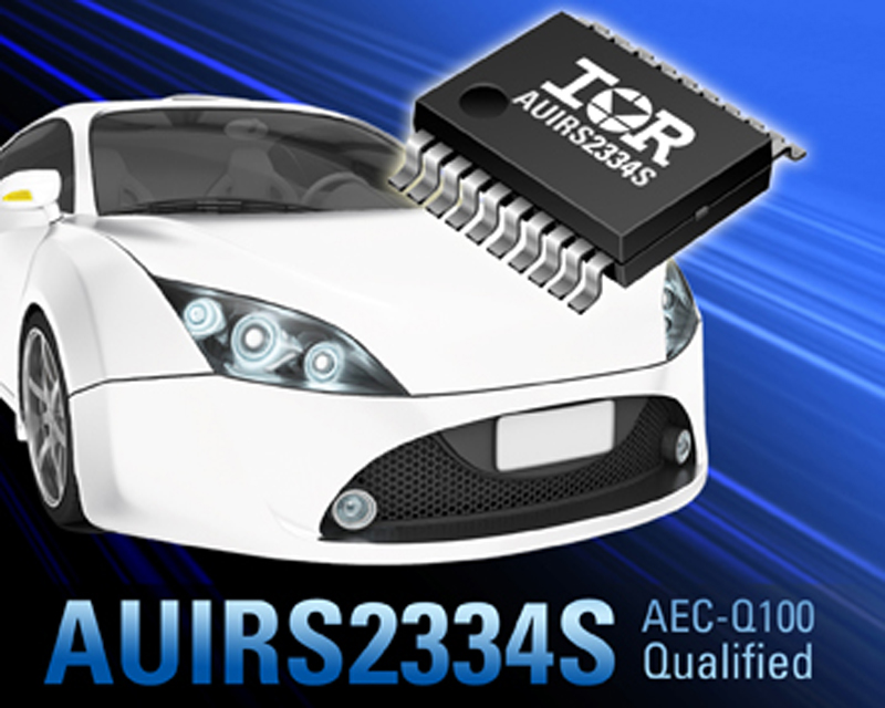 IR Introduces Automotive Qualified AUIRS2334S 600V IC for 3-Phase Inverterized Motor Drive Applications